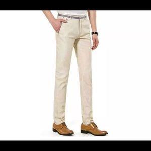 Other - NEW Men's Straight Leg Beige Dress Pants