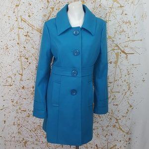 Jackets & Blazers - Tulle wool blend  Pea Coat deep sky blue size XL