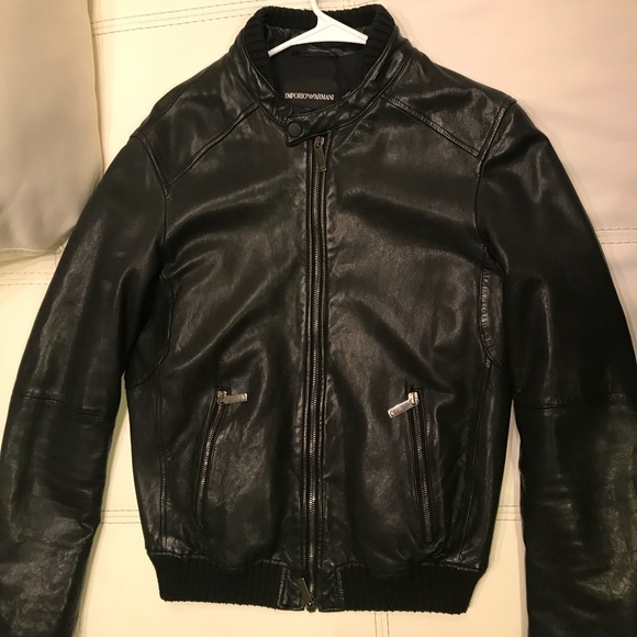 c72a43111 Authentic Emporio Armani Genuine Leather Jacket NWT