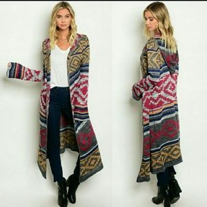Sweaters - New Hooded long knit cardigan