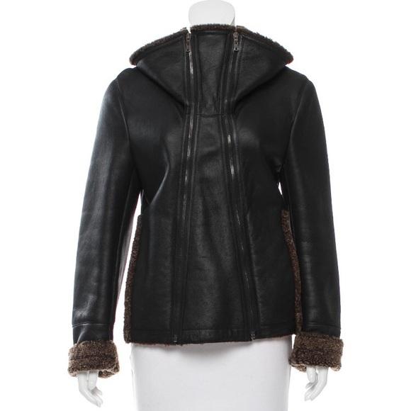 3eae2375433 Yves Saint Laurent Jackets & Coats | Lamb Shearling Bomber Coat ...