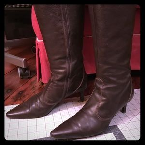 J Crew tall brown leather boots