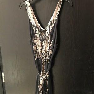 Bcbg patterned midi dress with matching sash. Sz M