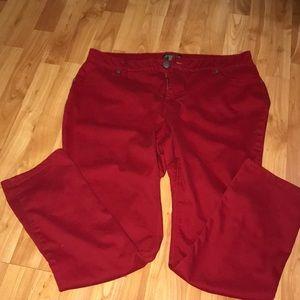 Pants - Red Woman's Soft Pants
