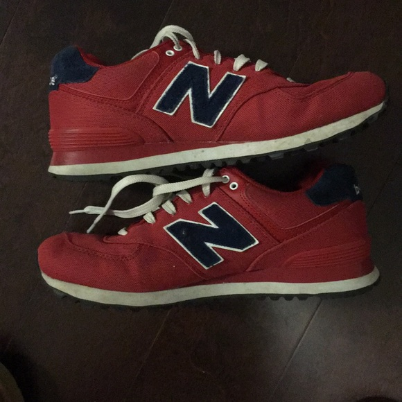 new balance 574s red