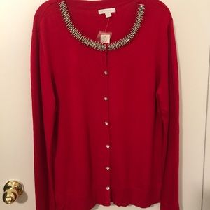 New York & Co. Red Holiday Sweater NWT