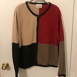 Christopher & Banks Multi Colored Cardigan