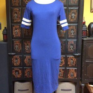 Lularoe Julia sheath dress in beautiful blue!
