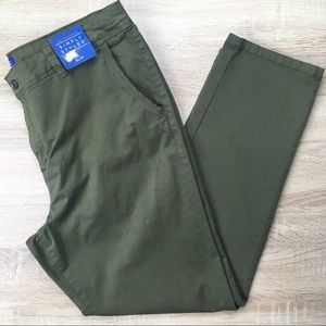 Simply Styled Green Chino Pants NWT
