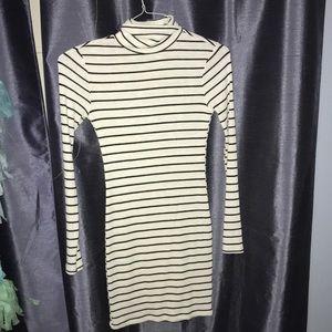 Socialite Dresses - Bodycon Black and White Striped Dress!