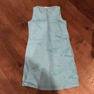 Blue Italian Linen Dress