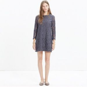 Madewell gray lace long sleeve dress size 6