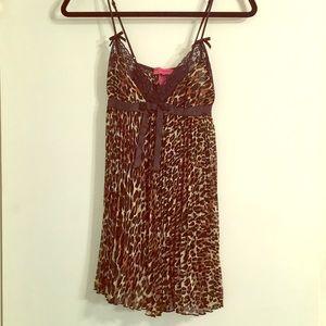 BETSEY JOHNSON Leopard print Slip Dress