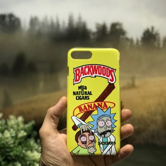 buy online d359b ad90a Rick Morty Banana Backwoods iPhone & Samsung Case