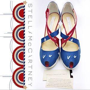 Stella McCartney Nautical Print Heels