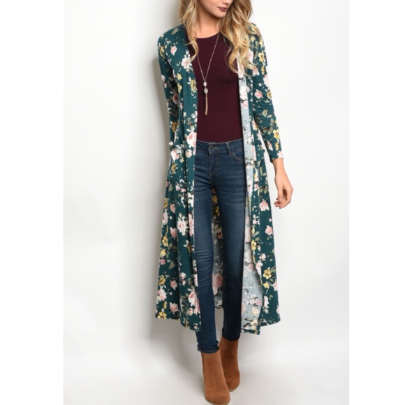 Boutique - Long floral cardigan from Kathleen 🎻's closet on Poshmark