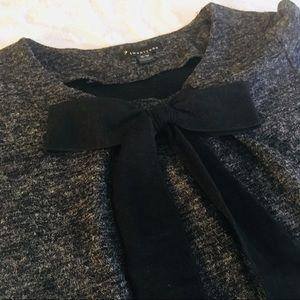 Dresses & Skirts - Heather Gray Ruffle Hem Bow Women's Dress M