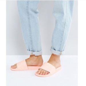 Shoes - Pink adidas slides sandals mens 6 women's 8