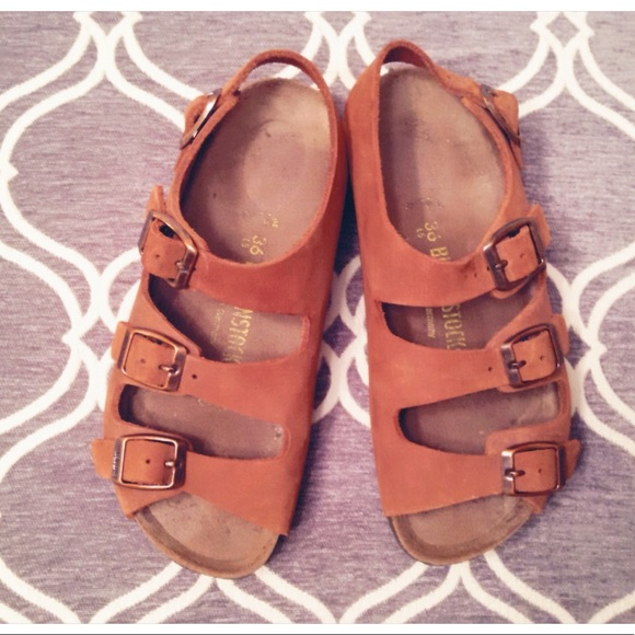 a1236ff75a8 Birkenstock Shoes - Triple Strap Birkenstocks with Backstrap
