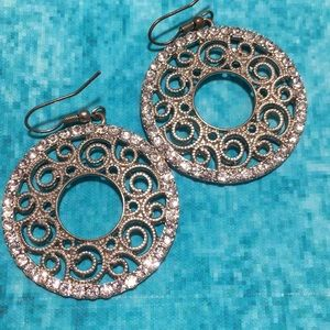 Jewelry - Pierced Earrings with filigree and cos
