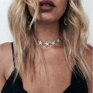 Jewelry - Silver Star Choker Boho Necklace
