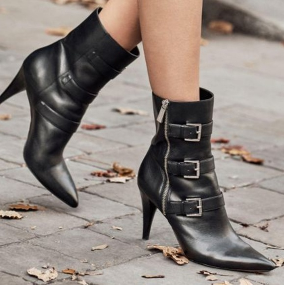 Michael Kors Lori Mid Calf Leather Boot