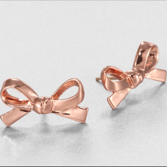 b0ed6f28e718 Kate Spade Rose Gold Skinny Bow Earrings
