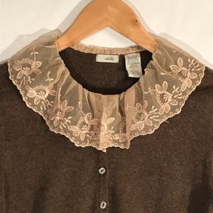 Anthropologie Odille Small Madeline Lace Sweater