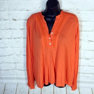  J. Peterman • Orange Long-Sleeve V-Neck