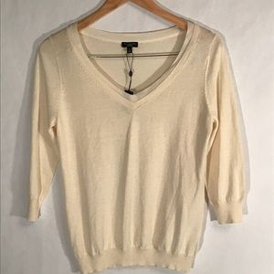 Talbots NWT Small Ivory Silk Sweater Top