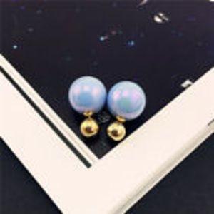 Iridescent Double Stud Earrings