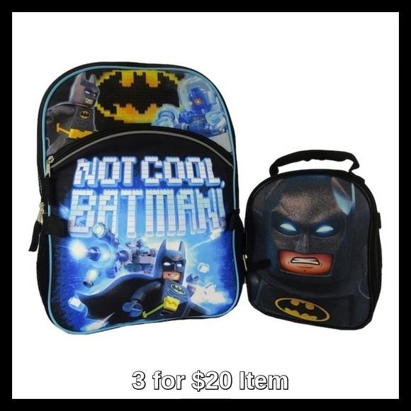 fd3ee15b87 Batman Accessories   Dc Comics Lego Backpack Lunch Bag Set   Poshmark