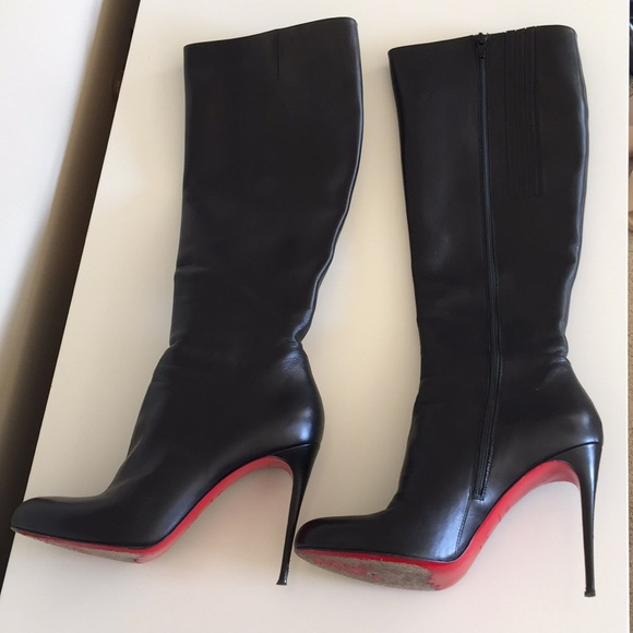 best website e276b 8c864 Christian Louboutin Black Leather Boots