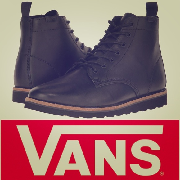 6d45dcb05d79f6 VANS Sahara Black Leather Lightweight Boots