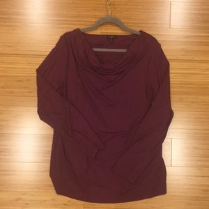 EUC Talbots drape neck top size 1X