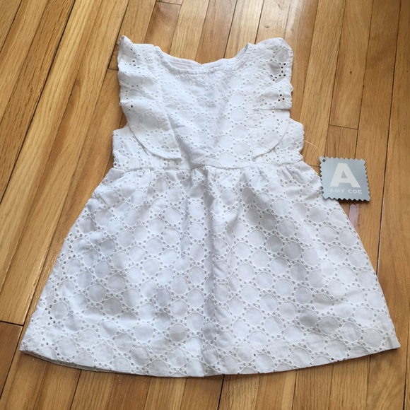 5f3b6ab7dad Amy Coe baby girl white eyelet ruffle dress