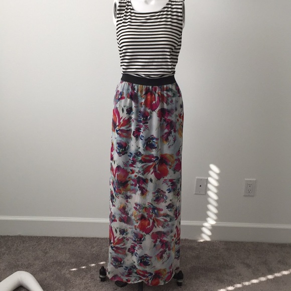 48317f56e4 Xhilaration Dresses | Mixed Media Maxi Dress | Poshmark