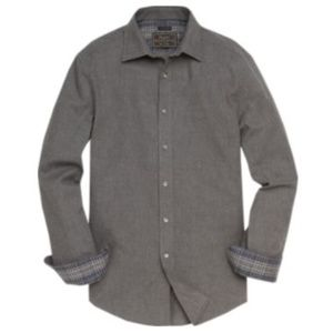 Tailored Fit Spread Collar Solid Color Sportshirt