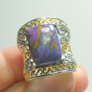 Jewelry - NWT Natural Mojave Purple Turquoise Ring