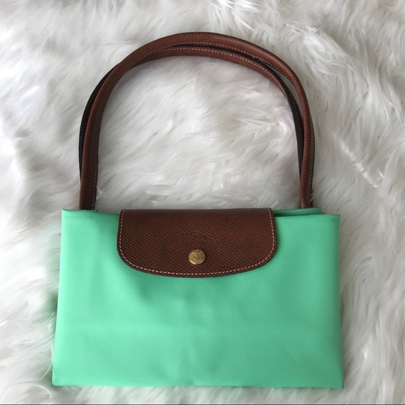 82c3d6208a Longchamp Handbags - {Longchamp} Large Le Pliage Nylon Tote Mint Green