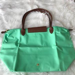 ed5d98e63c0 Longchamp Bags - {Longchamp} Large Le Pliage Nylon Tote Mint Green