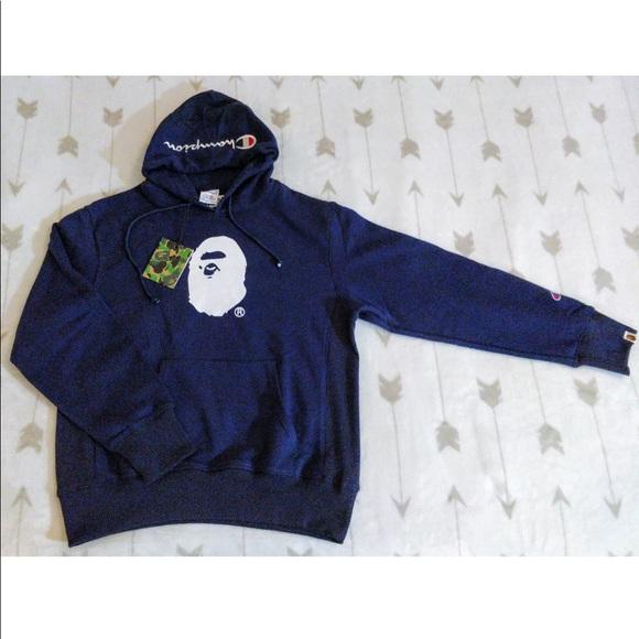 673b9f08 Bape Jackets & Coats | Nwt X Champion Pullover Hoodie | Poshmark