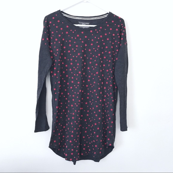 a4dca4104a63b Victoria's Secret Gray Red Star Sleep Shirt Gown