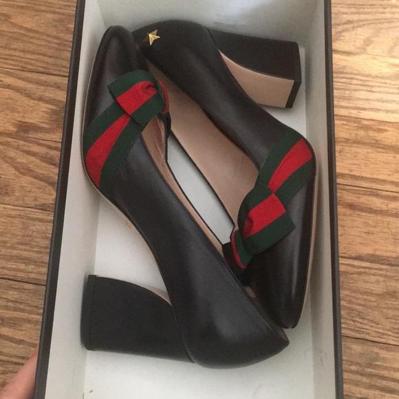9c0bdae9f8a Gucci Shoes - Gucci Grosgrain Bow Aline Heel