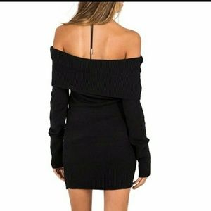 da54dad7336 Dresses - Mira  Black Off The Shoulder Sweater Dress