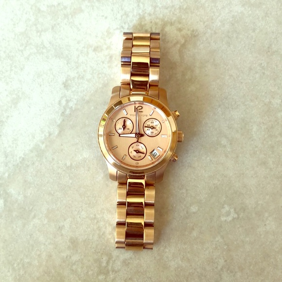 c48058aa24fa Michael Kors  Runway Gold-Tone Chronograph Watch .  M 5a32b77dbf6df5dec702b093