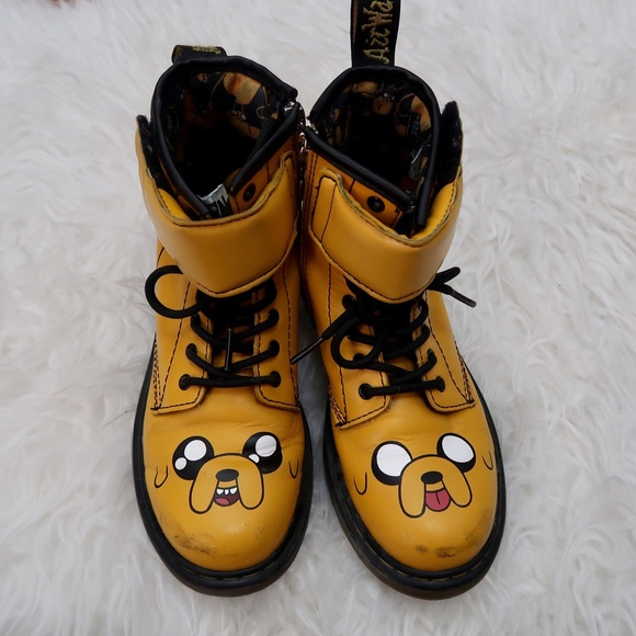factory price order online website for discount Kids Doc Martens Boots Adventure Time Jake