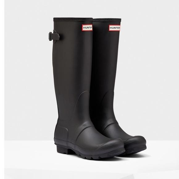 hunter boots shoes matte black poshmark