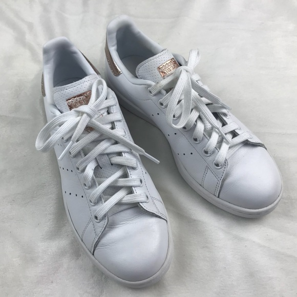 new product ace81 53c39 Adidas Original Stan Smith Copper White Rose Gold