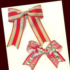 Other - Elegant Christmas hair bows